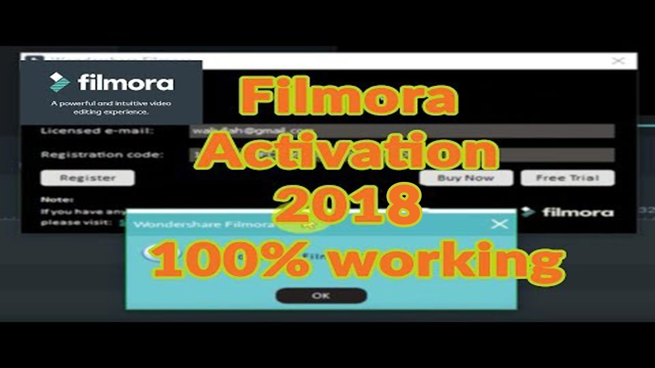 Latest Wondershare Filmora Registration Code Free 2019