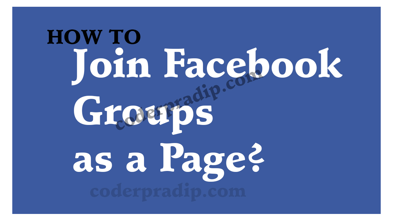 Post on Facebook groups as your page